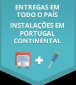 Entregas em todo o país - Instalações em Portugal Continental