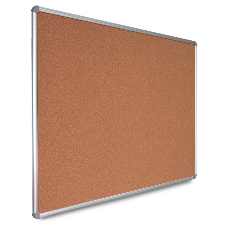 Quadros de cortiça ou tecido com moldura de alumínio e cavalete opcional