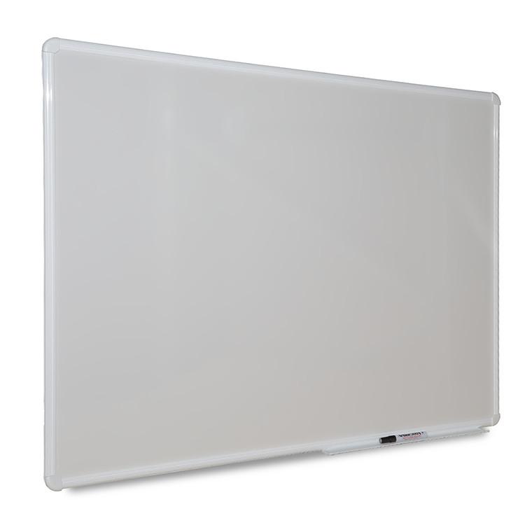 Quadros brancos para projecção video, magnéticos, com moldura de alumínio e cavalete opcional