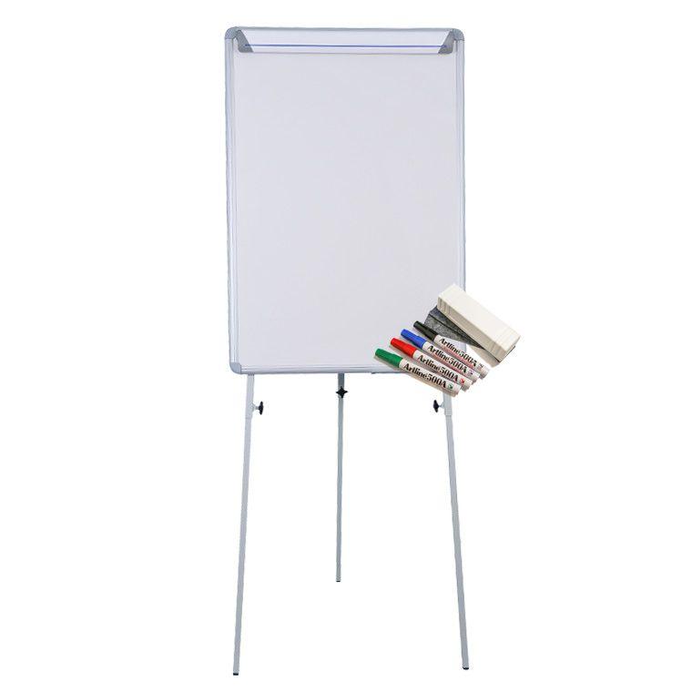 Quadro branco com pack de marcadores e apagador