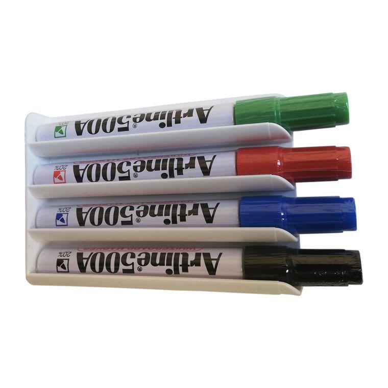 Porta marcadores magnético para 4 marcadores